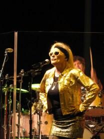 Deborah Harry, vamping it up on stage.