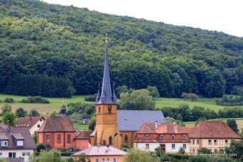small village church tower