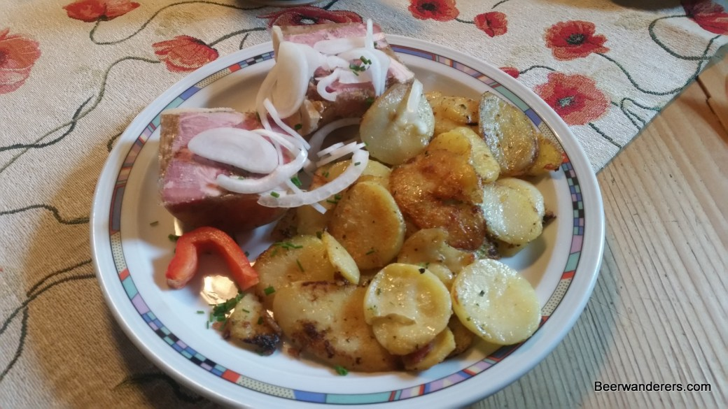 jellied meat with potatoes