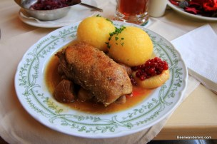 goose with dumplings