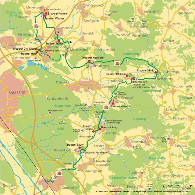 13 brauereinweg map
