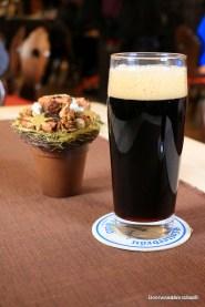 black beer in glass