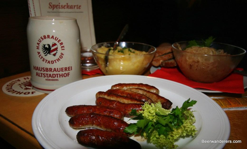 nürnberg hausbrauerei altstadthof food