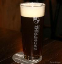 unfiltered dark beer in glass