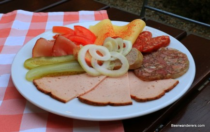 cold cuts on plate