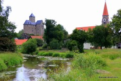 castle and church