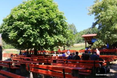 biergarten with tree