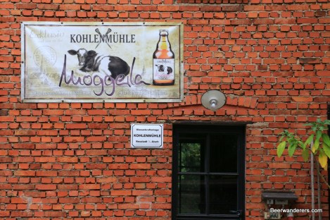 sign at brewery
