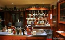 bar with beer barrels