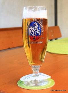 beer in pils glass