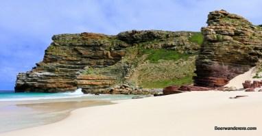 white sandy rugged beach