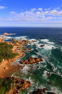 rough seas with rocky coast