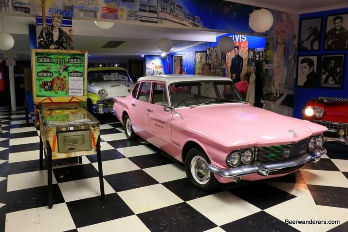 pink car pinball machine