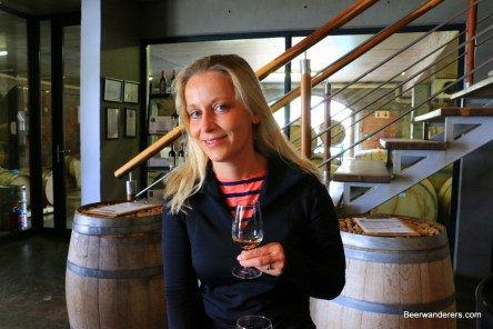 blond with wine