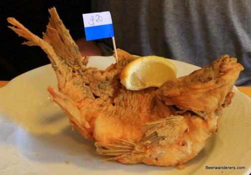 fried carp fish