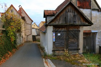 street scene with old building