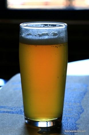 unfiltered beer in glass