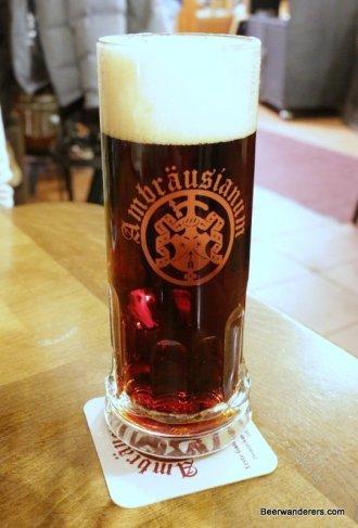 dark beer in mug
