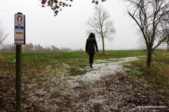 woman hiking in winter