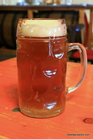 unfiltered beer in mug