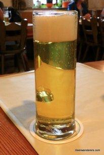 light yellow beer in mug