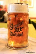 gold beer in mug