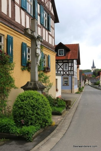 crucifix half-timbered houses