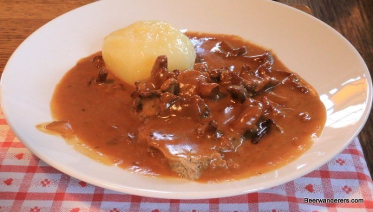 mushroom sauce with dumpling