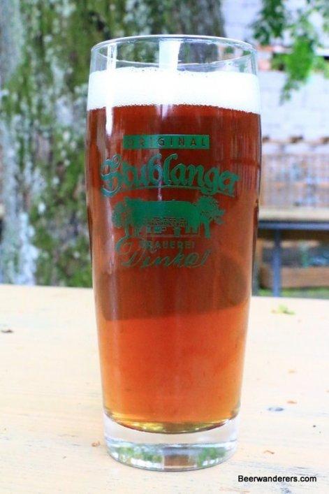 dar beer in glass
