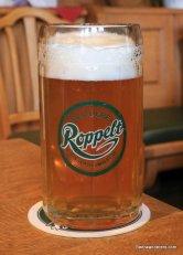 unfiltered amber beer