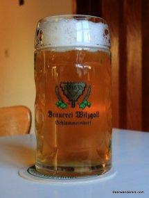 unfiltered beer in mug