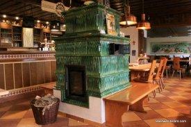 green tile oven