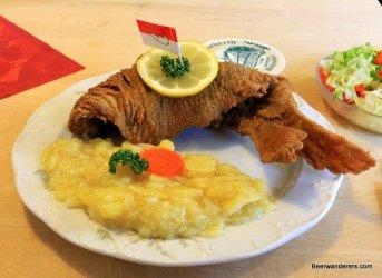 fried carp on plate
