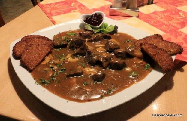 gulasch on plate