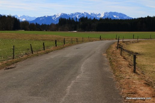 country road with mountains