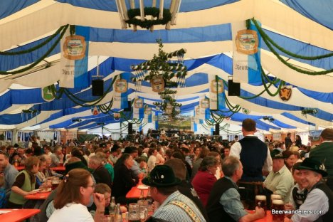 bavarian beer fest in tent