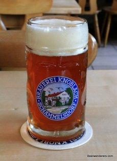 unfilterd amber beer in mug