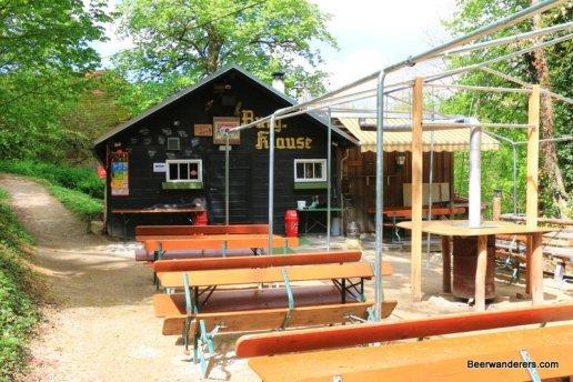 biergarten hut