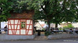 biergarten with half timbered house