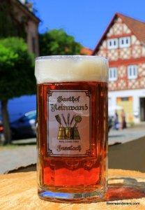 amber beer in logo mug