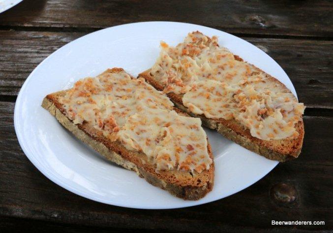 bread with fat spread