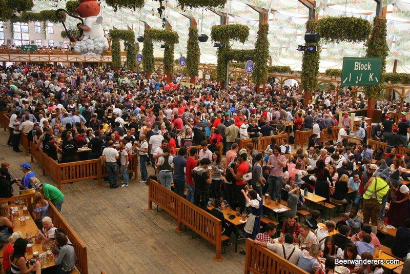 big crowd at oktoberfest