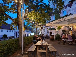 outside seating at pub