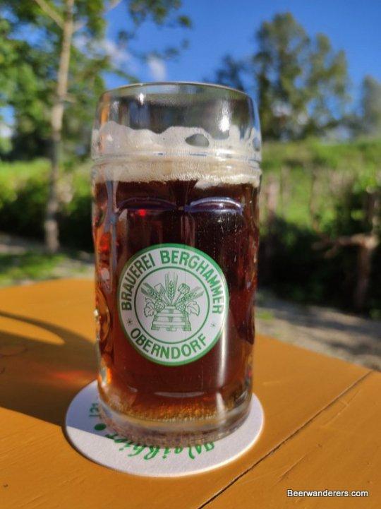 dark beer glass with bottle