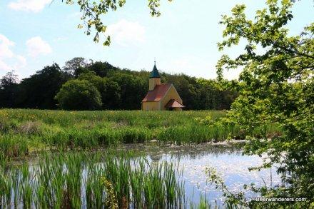 chapel on pond