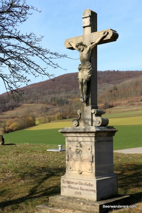 crucifix in countryside
