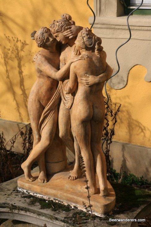 statues in garden