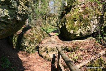 trail through rocks
