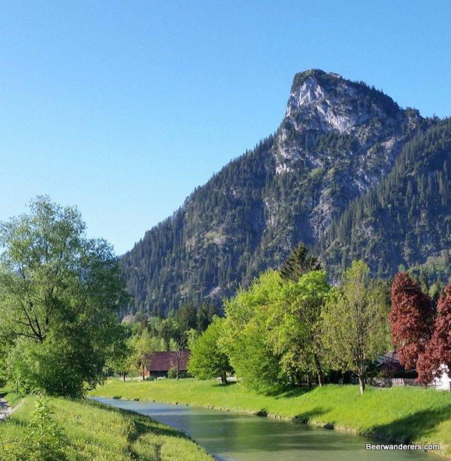 dramatic peak by river
