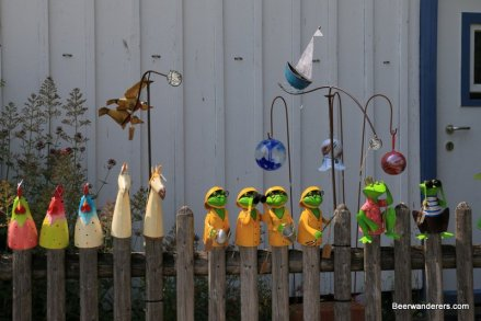 decorations on fence